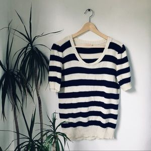 Urban Outfitters Navy & Cream Sweater Tee